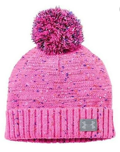 9eac8ddf5ed Girls UNDER ARMOUR pink pom pom beanie hat. M 5a87b703077b970e3c617ba2